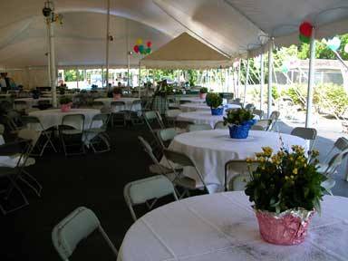Tent Tables Set Up 2